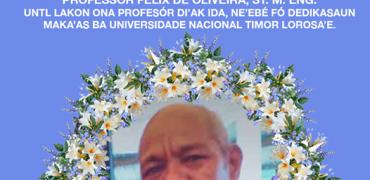 UNTL lakon ona Profesór Felix de Oliveira, ST. M. Egn
